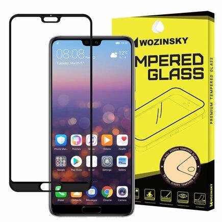 Super odolné tvrzené sklo Full Glue přes celý displej s rámem Case Friendly Huawei P20 Pro černé