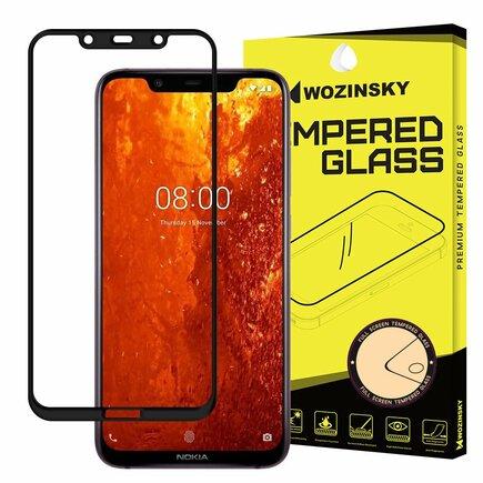 Super odolné tvrzené sklo Full Glue přes celý displej s rámem Case Friendly Nokia 8.1 / Nokia X7 černé