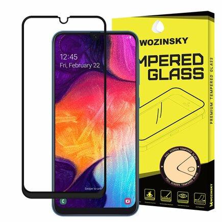 Super odolné tvrzené sklo Full Glue přes celý displej s rámem Case Friendly Samsung Galaxy A50 / Galaxy A30 / Galaxy M21 černé