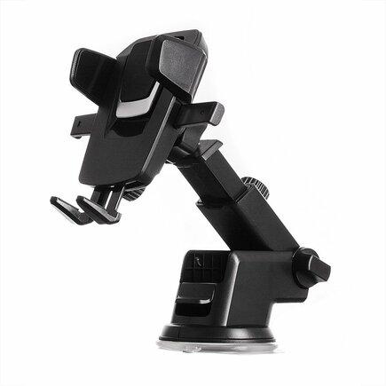 Teleskopický regulovatelný držák do auta na palubní desku nebo sklo černý