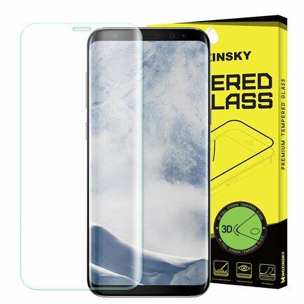 Tvrzené sklo 3D přes celý displej s rámem Samsung Galaxy S9 Plus G965 průsvitné