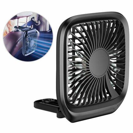 Ventilátor do auta Baseus pro montáž na opěrku hlavy černý (CXZD-01)