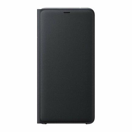 Wallet Cover pouzdro bookcase s kapsou pro kartu Samsung Galaxy A9 2018 A920 černé (EF-WA920PBEGWW)