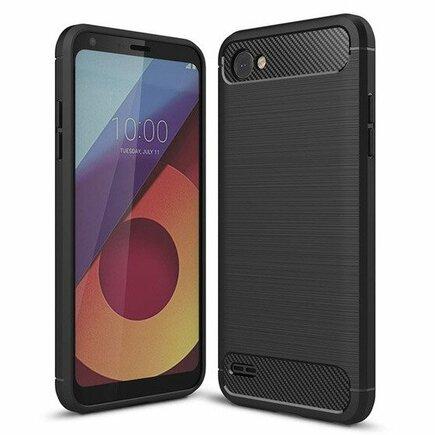Carbon Case elastické pouzdro LG Q6 černé