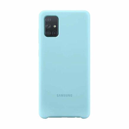 EF-PA715TLE Samsung Silikonový Kryt pro Galaxy A71 Blue (EU Blister)