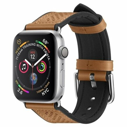 Kožený pásek Retro Fit Band Apple Watch 1/2/3/4/5 (42/44MM) hnědý