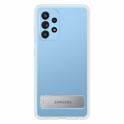 Originální pouzdro Clear View Standing Cover EF-JA525CTEGWW Samsung Galaxy A52 průsvitné