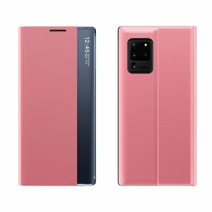 Sleep Case pouzdro s klapkou typu Smart Cover Samsung Galaxy Note 20 Ultra růžové