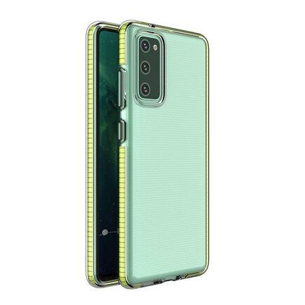 Spring Case gelové pouzdro s barevmým rámem Xiaomi Redmi K40 Pro+ / K40 Pro / K40 / Poco F3 / Mi 11i žluté