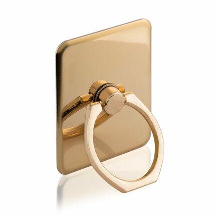 Úchyt na telefon ring s podstavcem ve tvaru prstenu zlatý