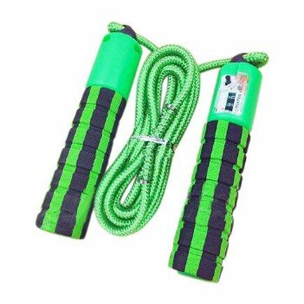 Švihadlo s počítadlem skoků pro fitness crossfit zelené