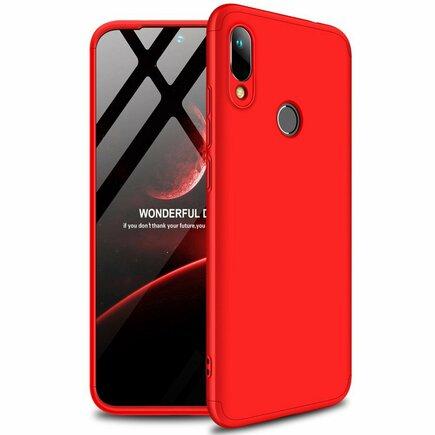 360 Protection Case pouzdro na přední i zadní část telefonu Huawei Y6 2019 červené