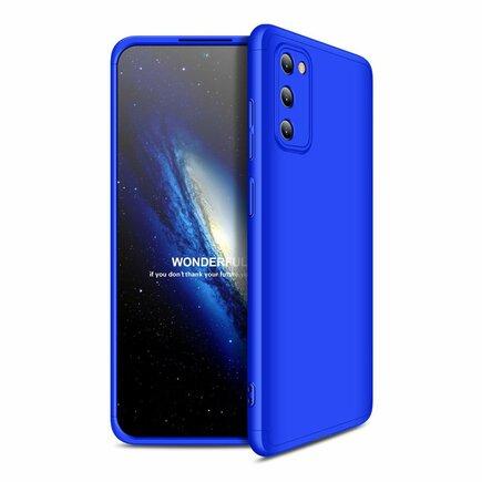 360 Protection Case pouzdro na přední i zadní část telefonu Samsung Galaxy A41 modré