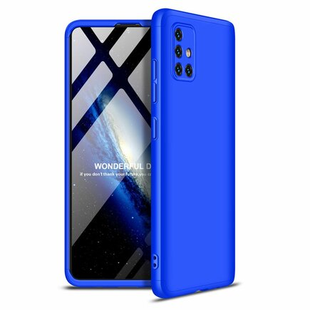 360 Protection Case pouzdro na přední i zadní část telefonu Samsung Galaxy A51 modré