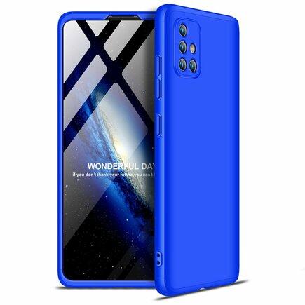 360 Protection Case pouzdro na přední i zadní část telefonu Samsung Galaxy A71 modré