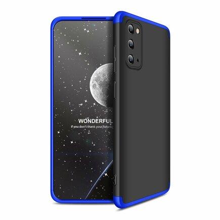 360 Protection Case pouzdro na přední i zadní část telefonu Samsung Galaxy S20 černo/modré