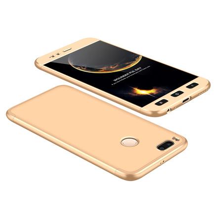 360 Protection Case pouzdro na přední i zadní část telefonu Xiaomi Mi A1 / Mi 5X zlaté