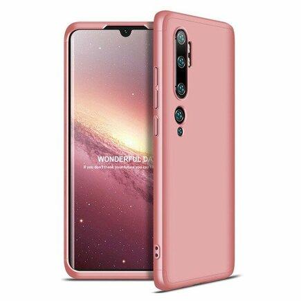 360 Protection Case pouzdro na přední i zadní část telefonu Xiaomi Mi Note 10 / Mi Note 10 Pro / Mi CC9 Pro růžové