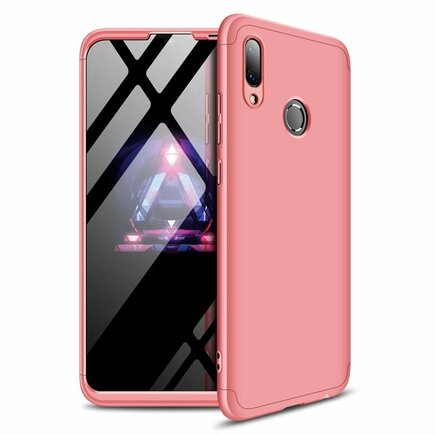 360 Protection pouzdro na přední i zadní část telefonu Huawei P Smart 2019 růžové