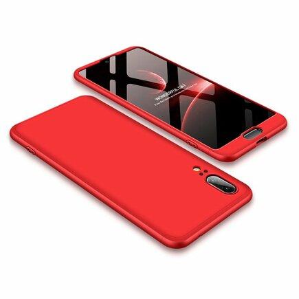 360 Protection pouzdro na přední i zadní část telefonu Huawei P20 červené