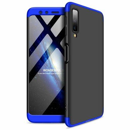 360 Protection pouzdro na přední i zadní část telefonu Samsung Galaxy A7 2018 A750 černo-modré