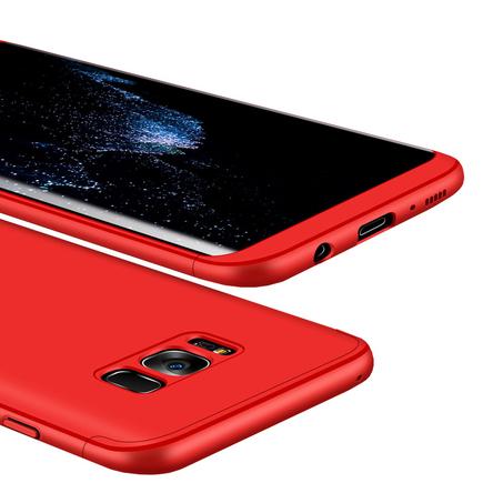 360 Protection pouzdro na přední i zadní část telefonu Samsung Galaxy S8 Plus G955 červené
