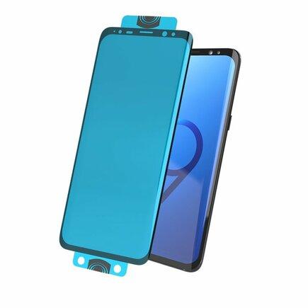 3D Edge Nano Flexi Glass skleněná fólie / tvrzené sklo na celý displej s rámem Samsung Galaxy S20 Ultra černé (in-display fingerprint sensor friendly)