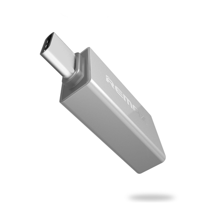 Adaptér OTG host USB 3.0 - USB Typ C stříbrný