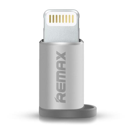 Adaptér z micro USB na Lightning stříbrný
