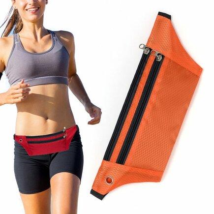 Běžecký opasek / pouzdro na telefon s výstupem pro sluchátka oranžový