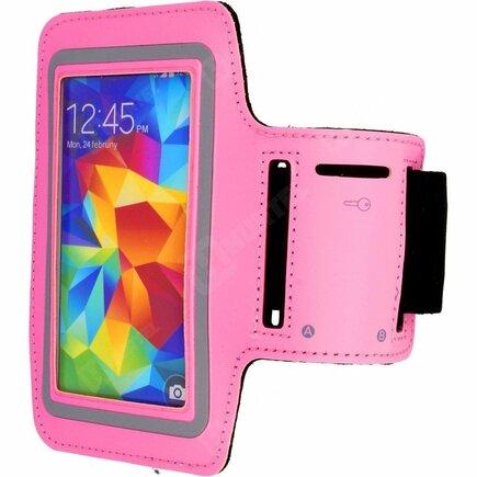 Běžecký pásek na rameno armband Samsung Galaxy s6 s5 s4 s3 světle růžový