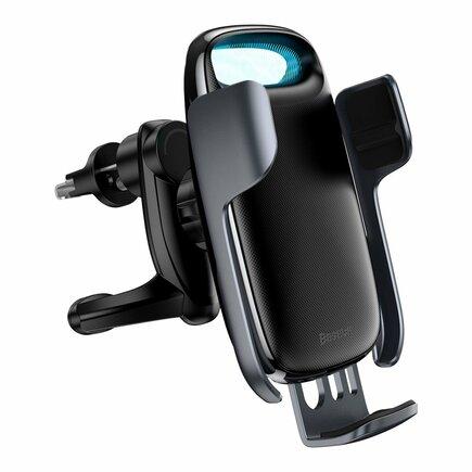 Baseus Milky Way 15W Qi bezdrátová nabíječka do auta s elektrickým držákem telefonu černá (WXHW02-01)