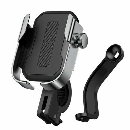 Baseus cyklistický držák telefonu na zrcátko / na řidítka stříbrný (SUKJA-0S)