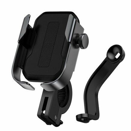 Baseus držák telefonu na řídítka kola, černý (SUKJA-01)