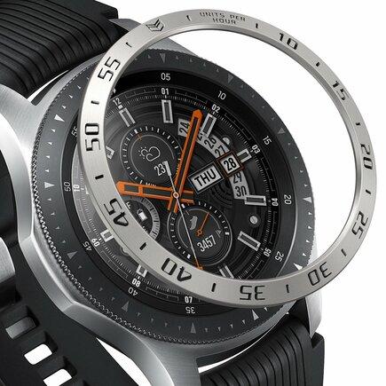 Bezel Styling pouzdro / rám pro Samsung Galaxy Watch 46 mm stříbrné (RGSG0001)