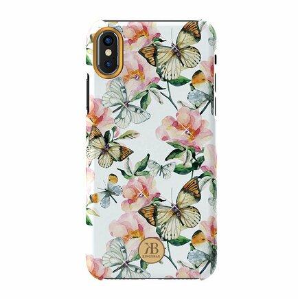Blossom pouzdro zdobené originálními krystaly Swarovski iPhone XS Max bílé