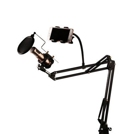 CK-100 Stolní držák pro mikrofon s filtrem POP černý