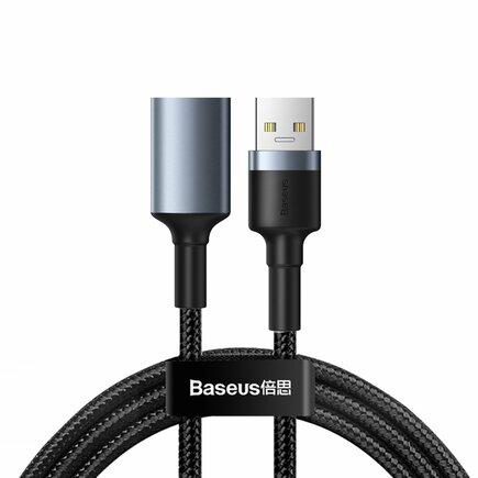 Cafule Cable prodlužovací odolný nylonový kabel USB 3.0 (pánský) / USB 3.0 (dámský) 2 A 1 m šedý (CADKLF-B0G)