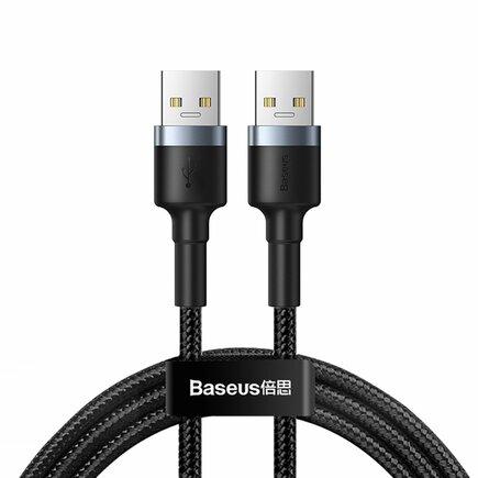 Cafule Cable prodlužovací odolný nylonový kabel USB 3.0 / USB 3.0 2 A 1 m šedý (CADKLF-C0G)