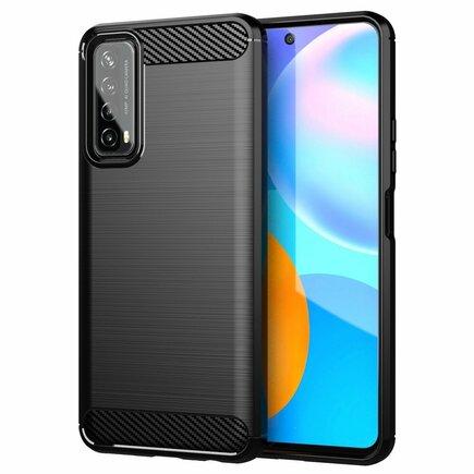 Carbon Case elastické pouzdro Huawei P Smart 2021 černé