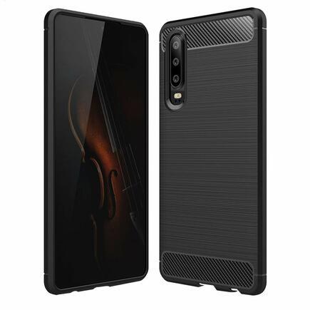 Carbon Case elastické pouzdro Huawei P30 černé