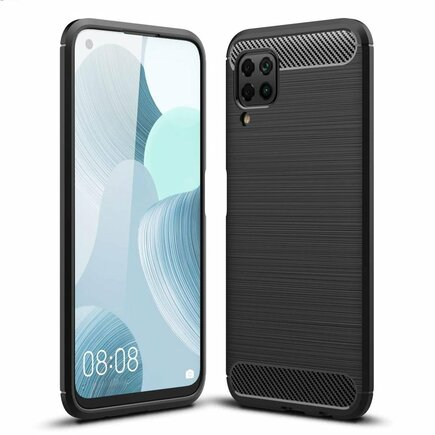 Carbon Case elastické pouzdro Huawei P40 Lite / Nova 7i / Nova 6 SE černé