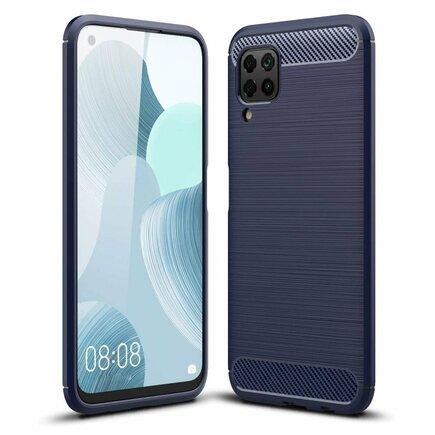Carbon Case elastické pouzdro Huawei P40 Lite / Nova 7i / Nova 6 SE modré