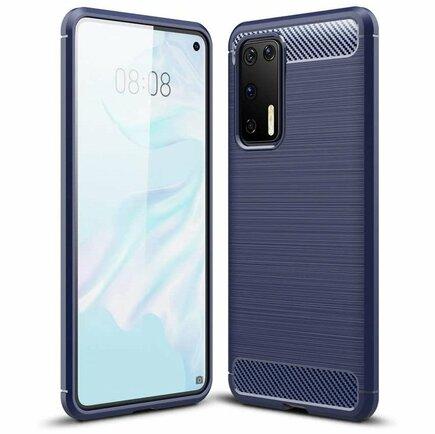 Carbon Case elastické pouzdro Huawei P40 Pro modré