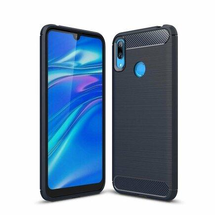 Carbon Case elastické pouzdro Huawei Y6 2019 modré
