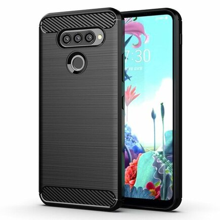 Carbon Case elastické pouzdro LG K50S černé