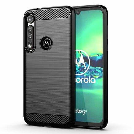 Carbon Case elastické pouzdro Motorola G8 Plus černé