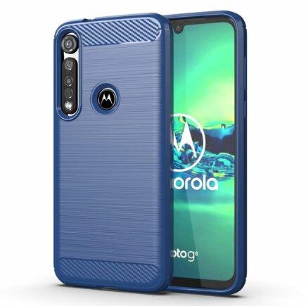 Carbon Case elastické pouzdro Motorola G8 Plus modré