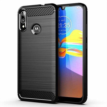 Carbon Case elastické pouzdro Motorola Moto E6 Plus černé