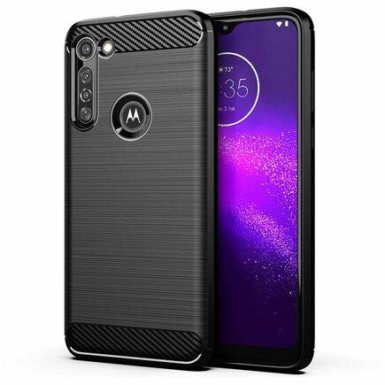 Carbon Case elastické pouzdro Motorola Moto G8 Power černé